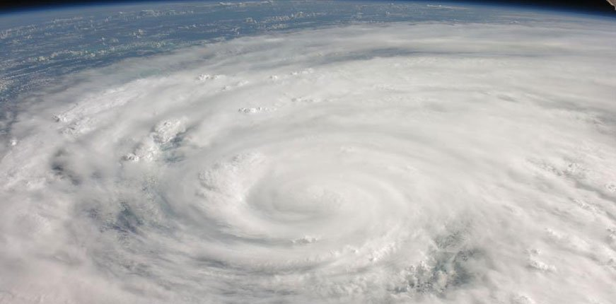 Ariel photo of hurricane