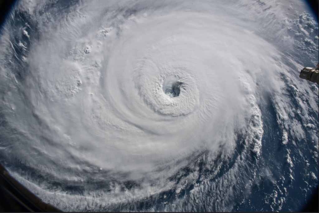 2020 Atlantic Hurricane Season Predication with a Photo of Hurricane Florence from Space